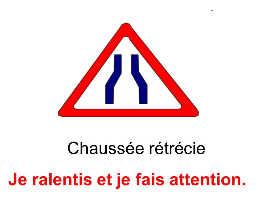 Attention, chaussée glissante Je suis prudent(e).