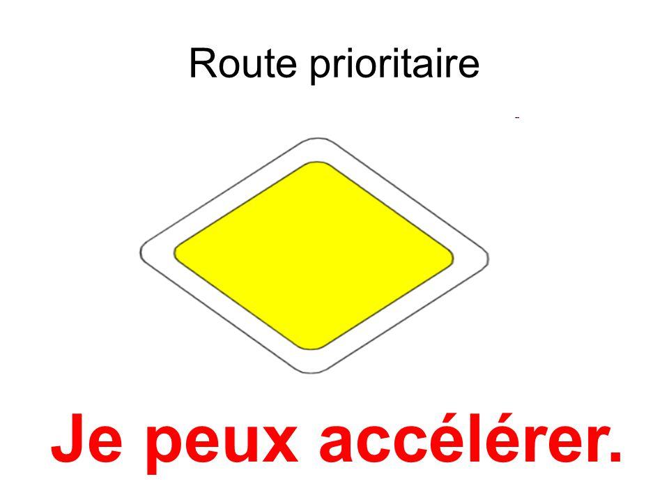 Route prioritaire Je peux accélérer.