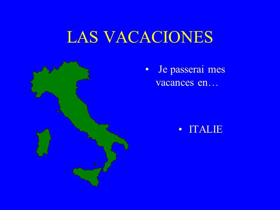 Les Vacances Je passerai mes vacances en… Espagne