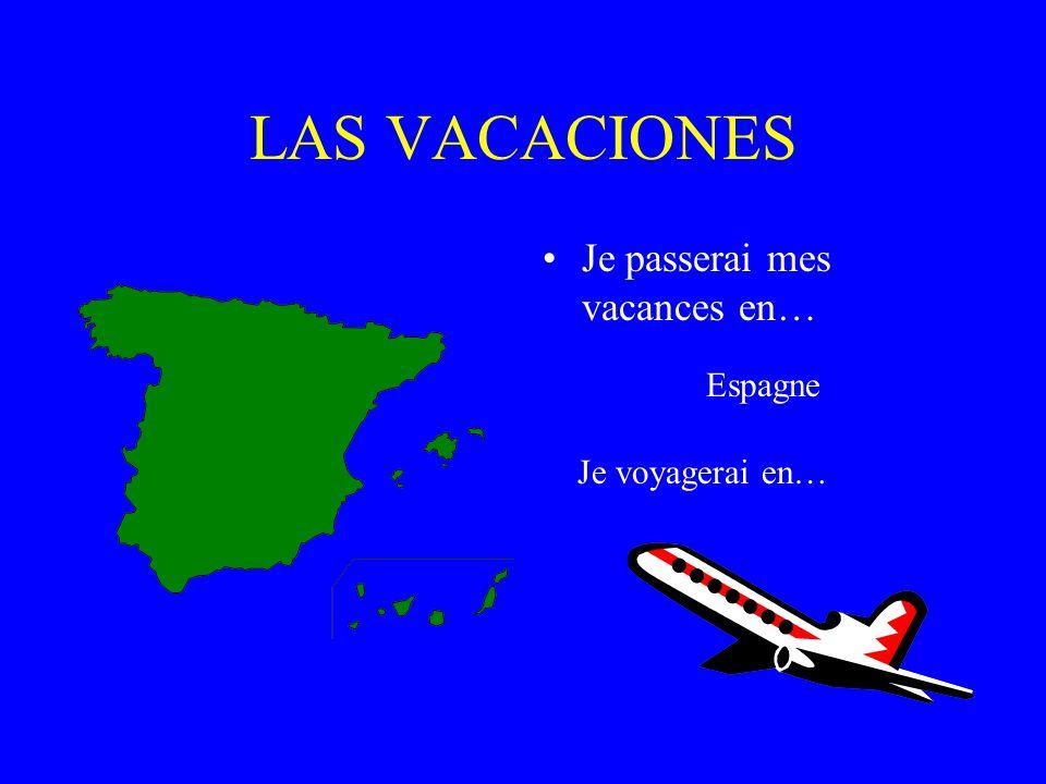 LAS VACACIONES Je passerai mes vacances en… France