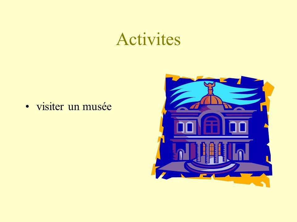 Activites visiter un musée