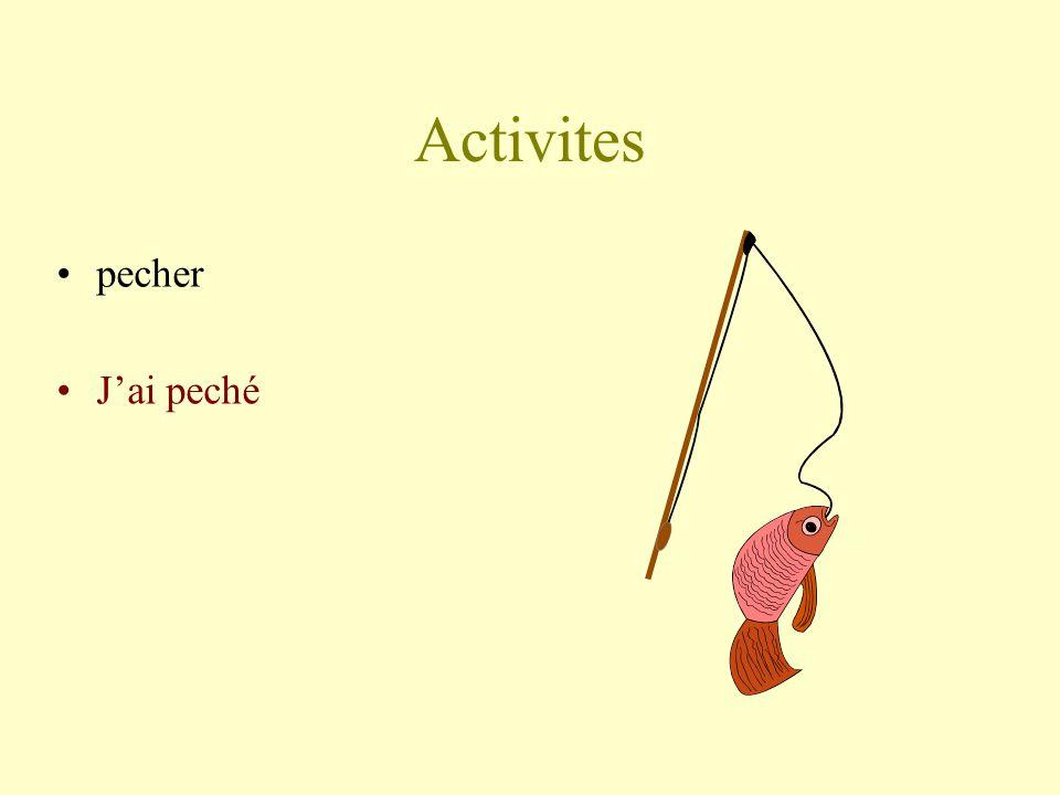 Activites pecher Jai peché
