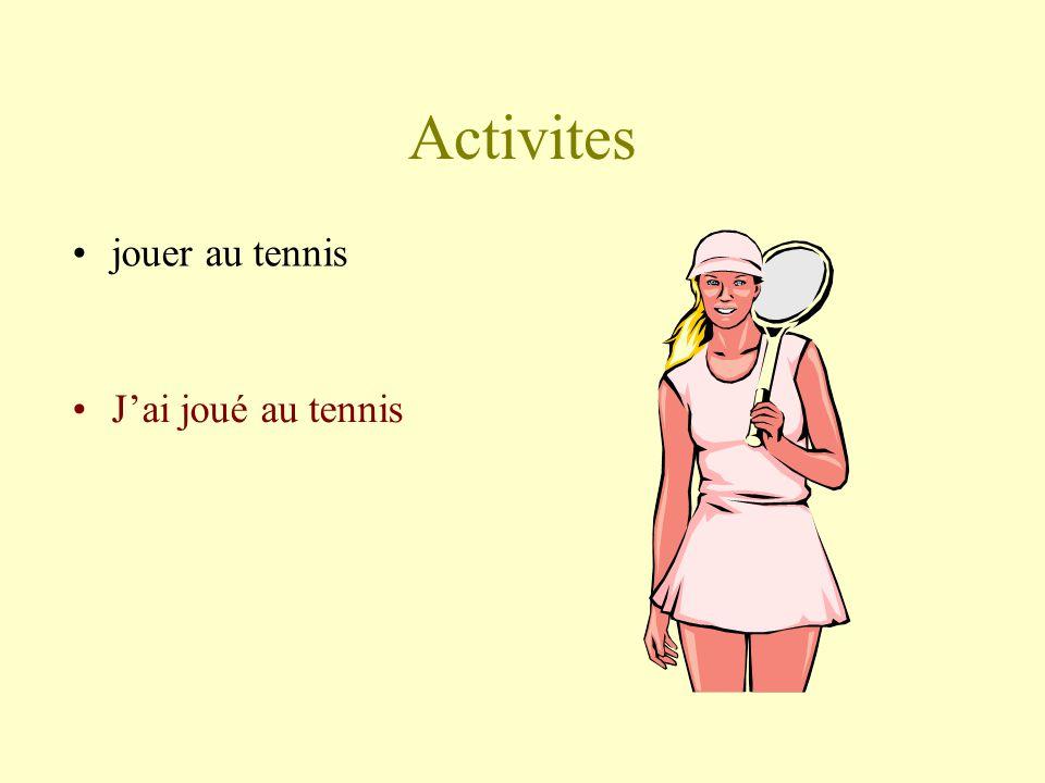Activites jouer au tennis Jai joué au tennis