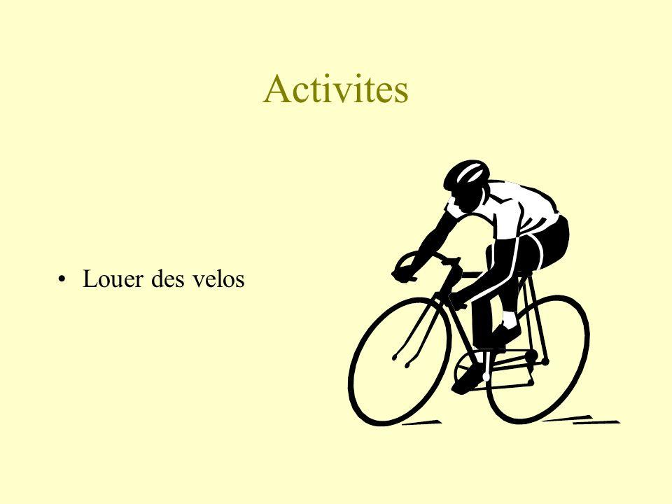 Activites Louer des velos