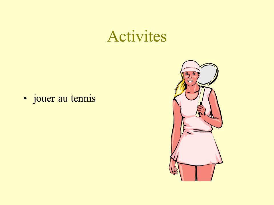 Activites jouer au tennis
