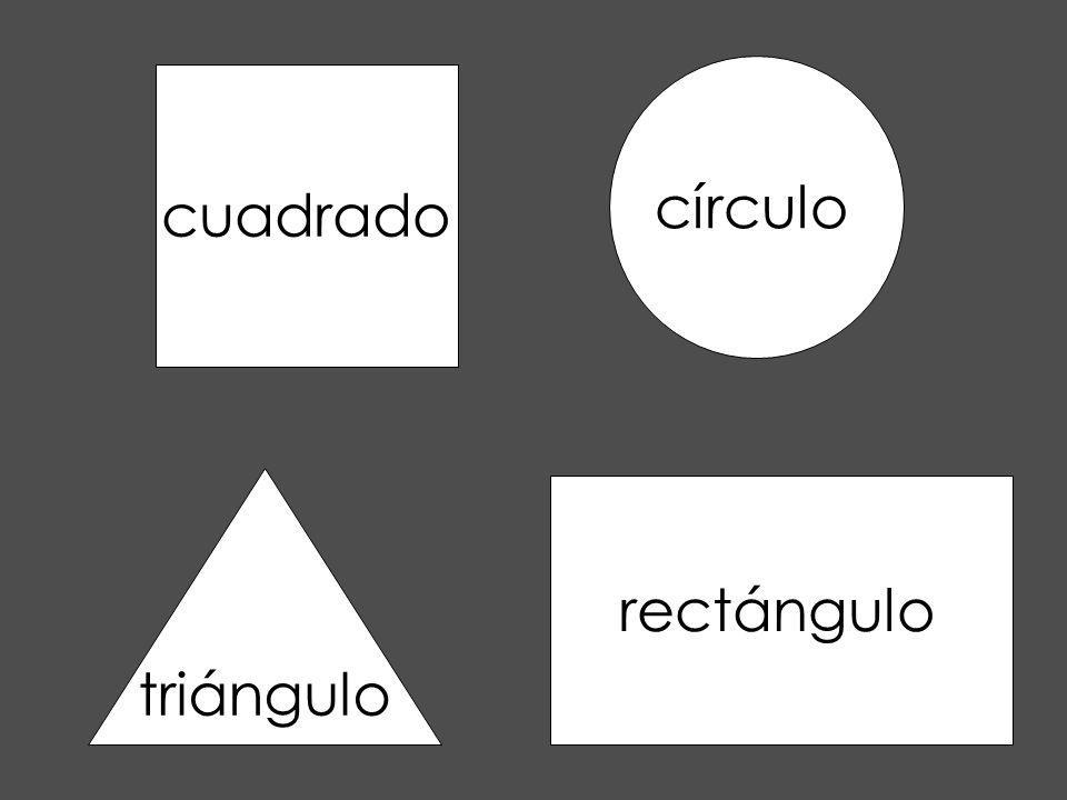 círculo cuadrado triángulo rectángulo