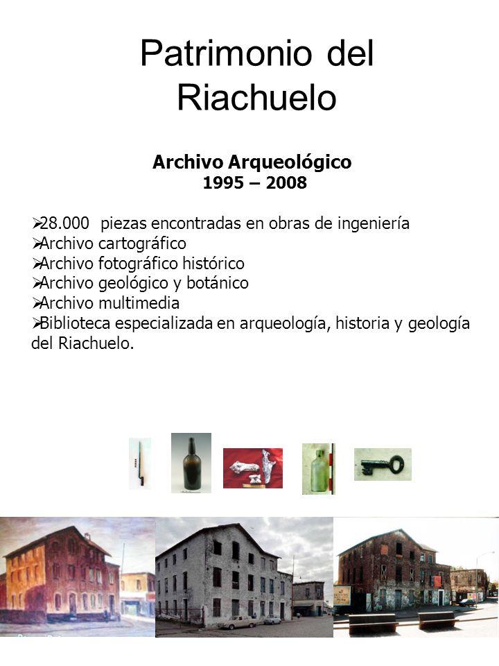 7 Patrimonio del Riachuelo Archivo Arqueológico 1995 – 2008 28.000 piezas encontradas en obras de ingeniería Archivo cartográfico Archivo fotográfico