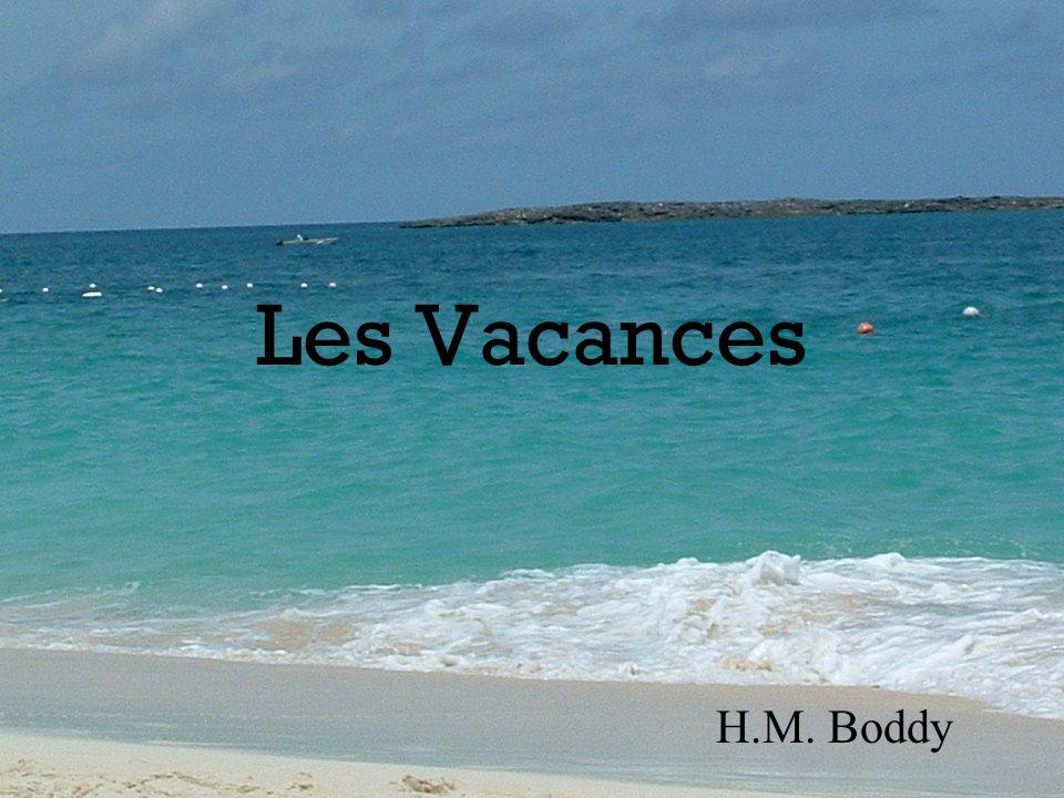 Où es-tu allé(e) en vacances? Je suis allé(e) aux Bahamas.