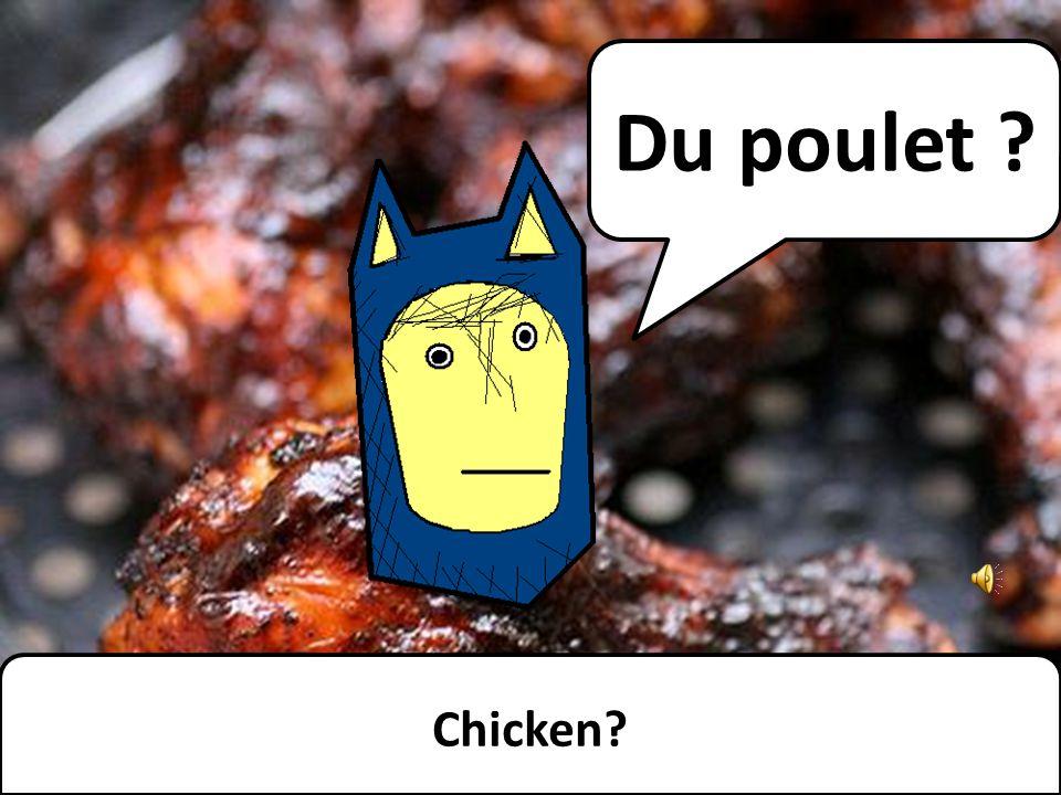 Du poulet ? Chicken?