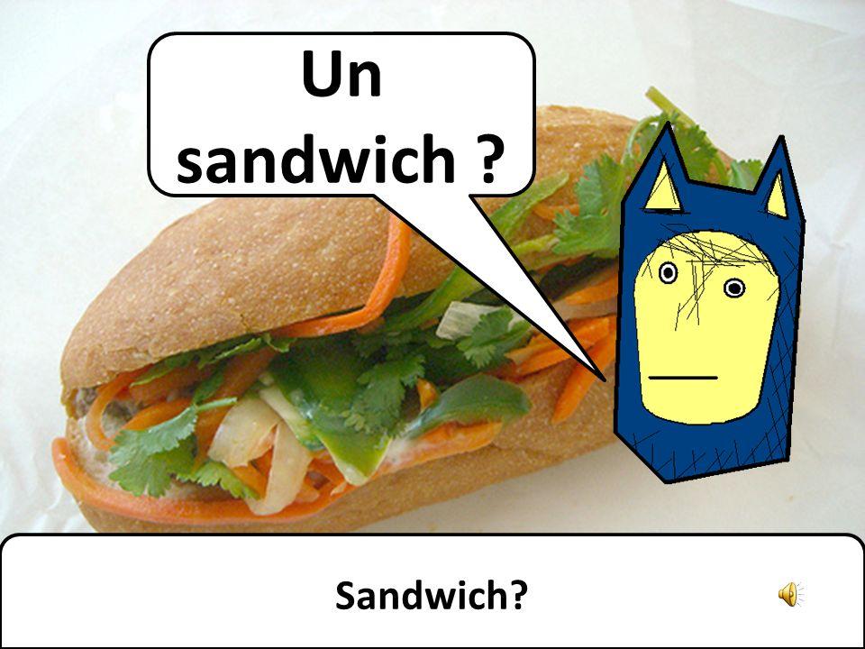 Un sandwich ? Sandwich?