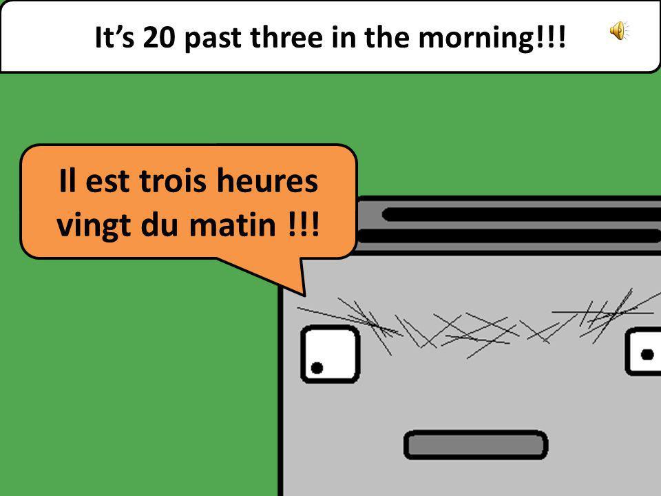 What time is it please Quelle heure est-il, sil vous plaît