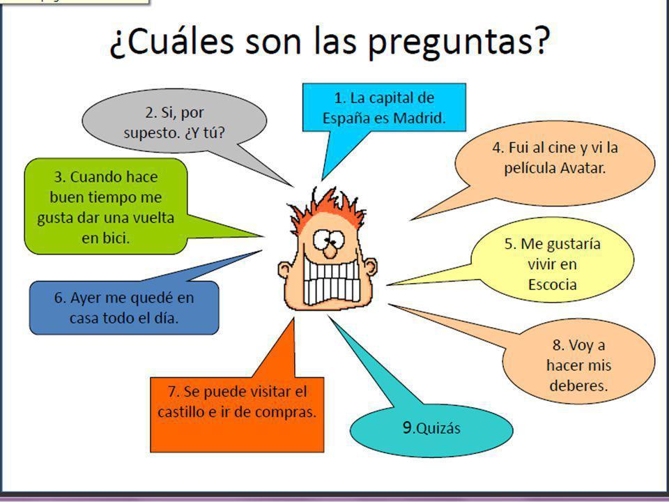 ¿Adónde? ¿Cómo? ¿Con quién? ¿Qué más? Ten tasks for talking: Quatre Questions Spanish