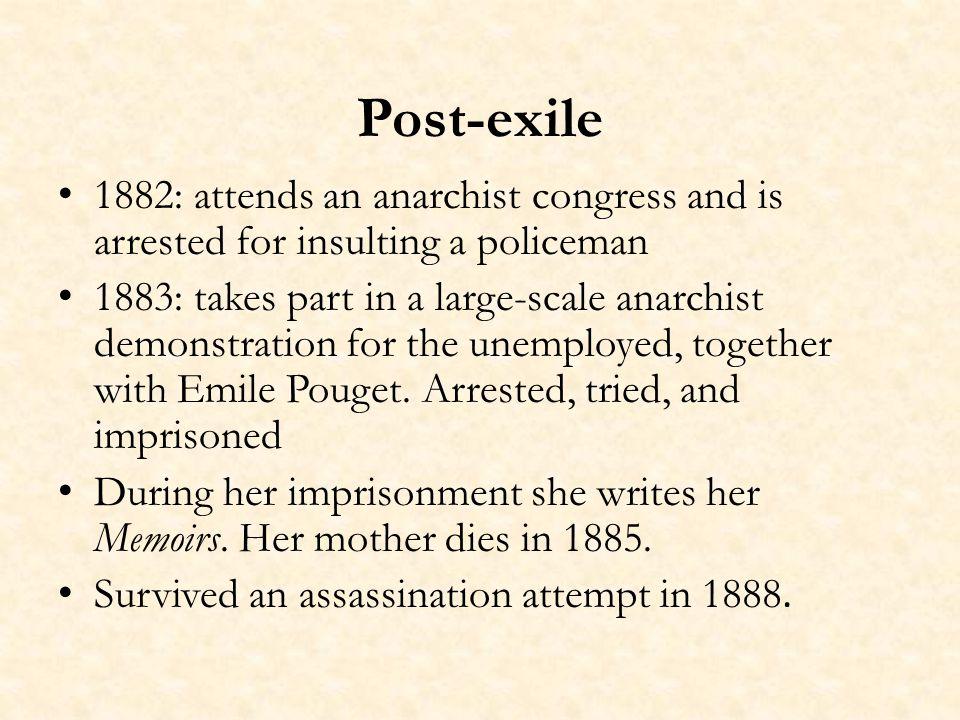 Louise Michel on her Memoirs : Jécrirais plus vite et mieux les Mémoires si jétais sûre quils soient imprimés tels que je les écris.