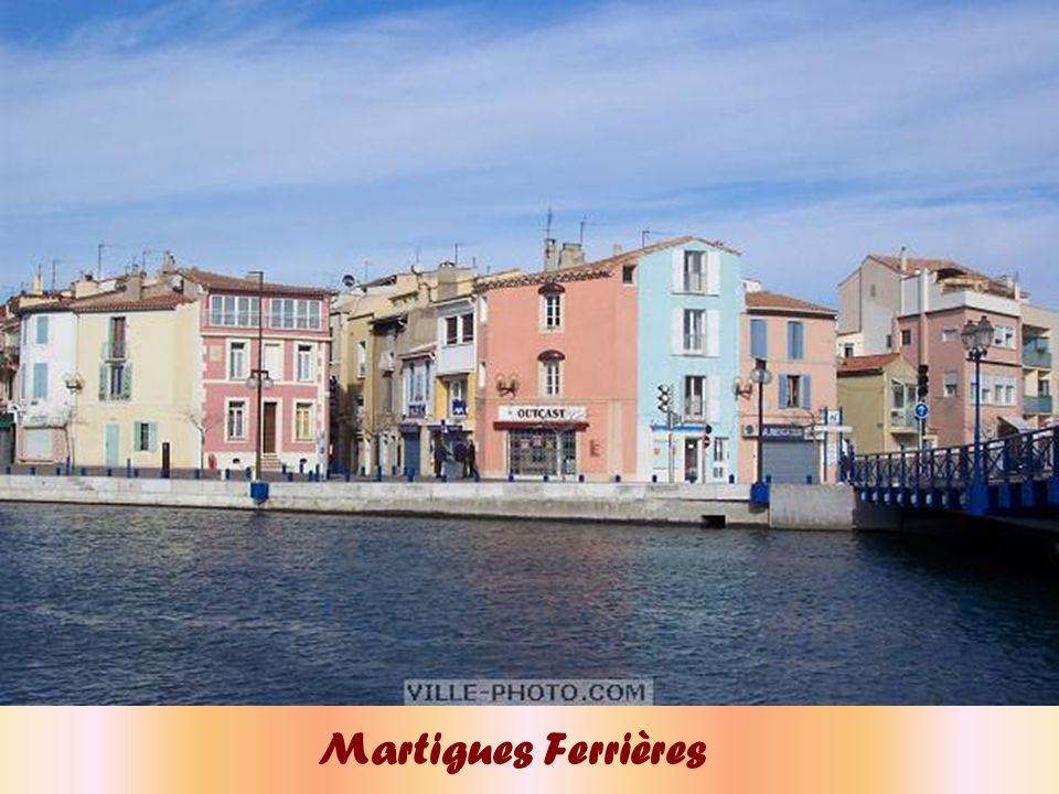 Martigues est la réunion des 3 quartiers : l'Ile, Jonquières et Ferrières Voici l'Ile
