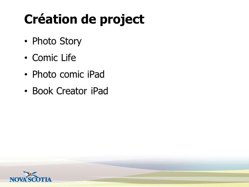 Création de project Photo Story Comic Life Photo comic iPad Book Creator iPad