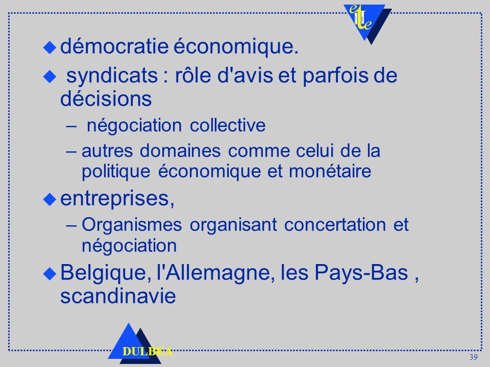 39 DULBEA u démocratie économique.