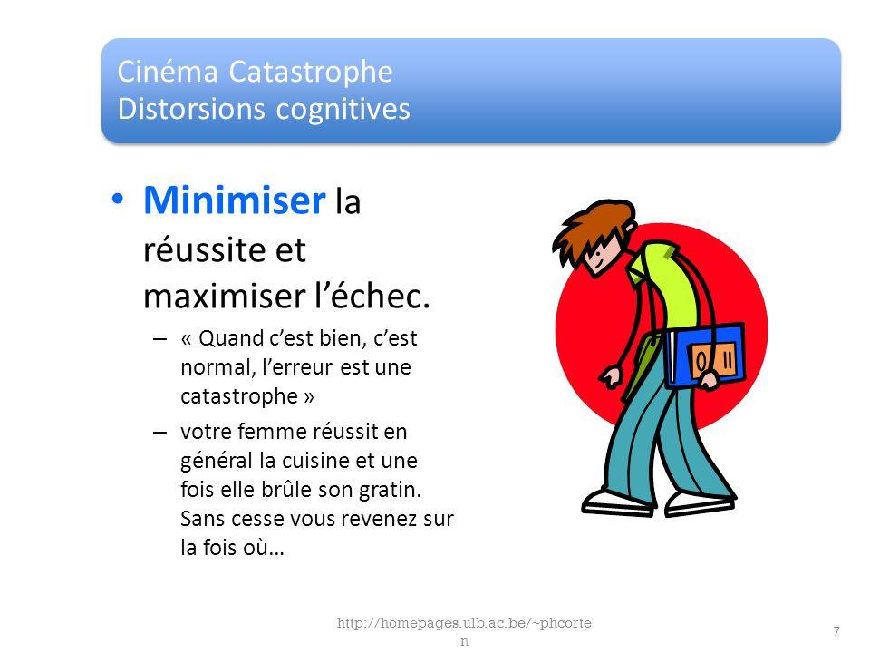 Cinéma Catastrophe Distorsions cognitives Minimiser la réussite et maximiser léchec. – « Quand cest bien, cest normal, lerreur est une catastrophe » –