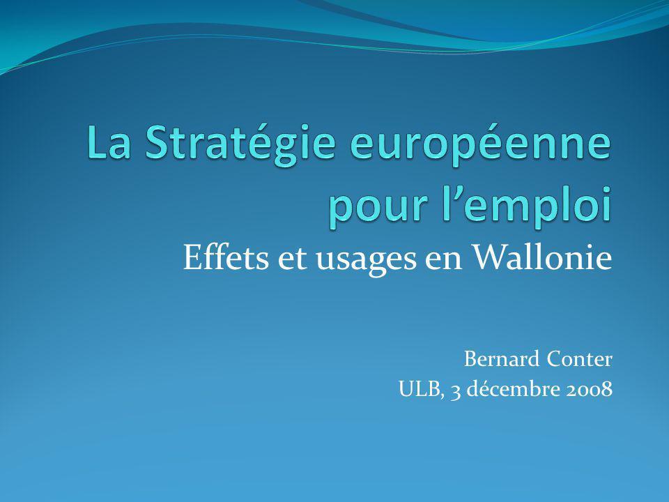 Effets et usages en Wallonie Bernard Conter ULB, 3 décembre 2008