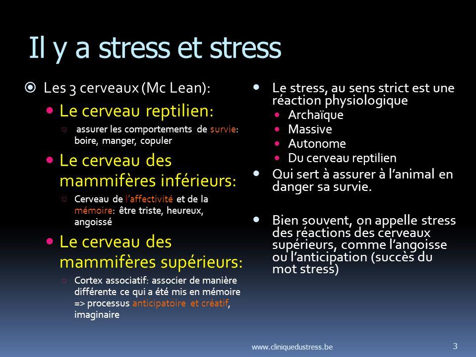 Stress et travail Ce nest généralement pas le travail en lui-même qui fait souffrir, mais lorganisation du travail.