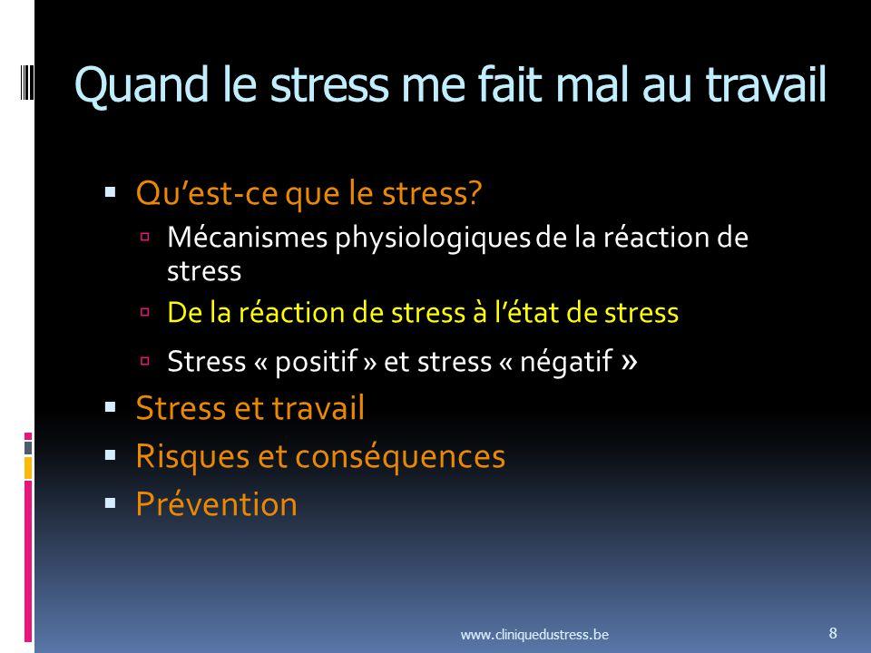 Stress et travail: ce qui a changé et qui fait souffrir mentalement Modèle de Siegrist: Effort - Reward.