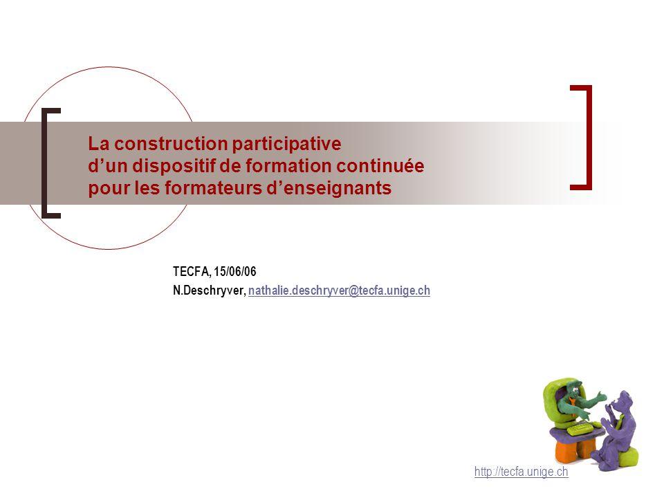 N.Deschryver – TECFA 15/06/06 – p.2 Calendrier déc99janv00fév00mars00avr00mai00juin00 1.