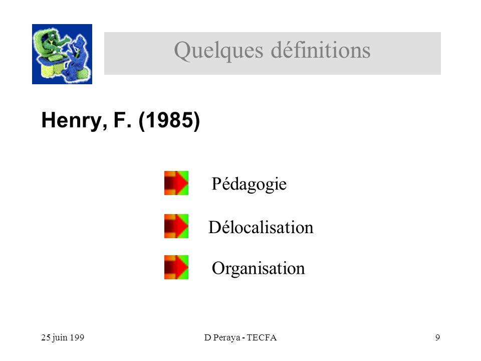 25 juin 199D Peraya - TECFA9 Henry, F.