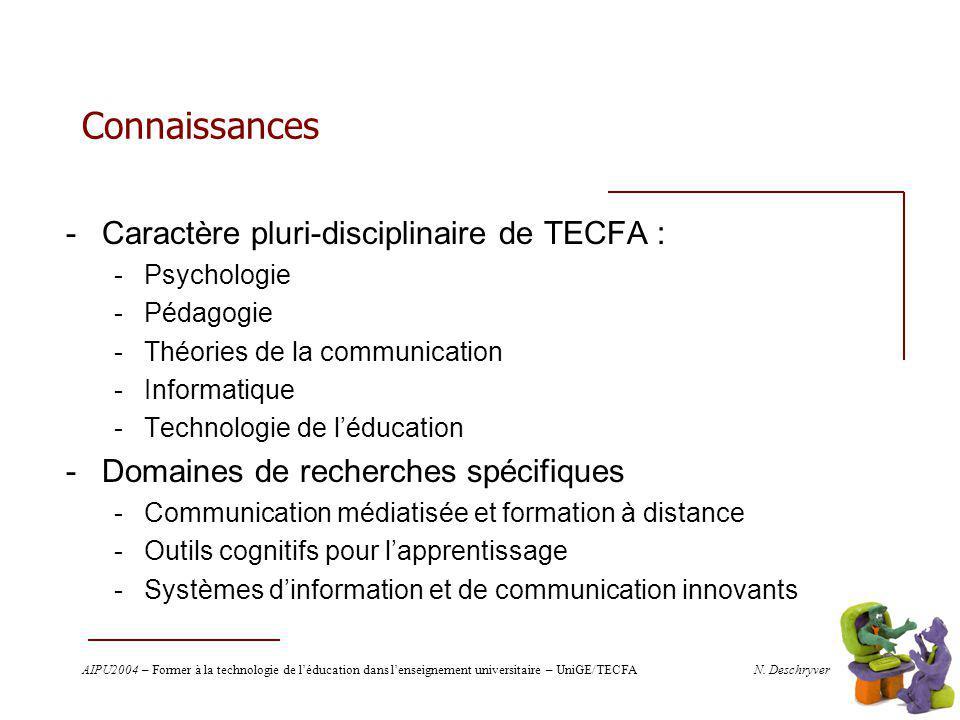 AIPU2004 – Former à la technologie de léducation dans lenseignement universitaire – UniGE/TECFA N.