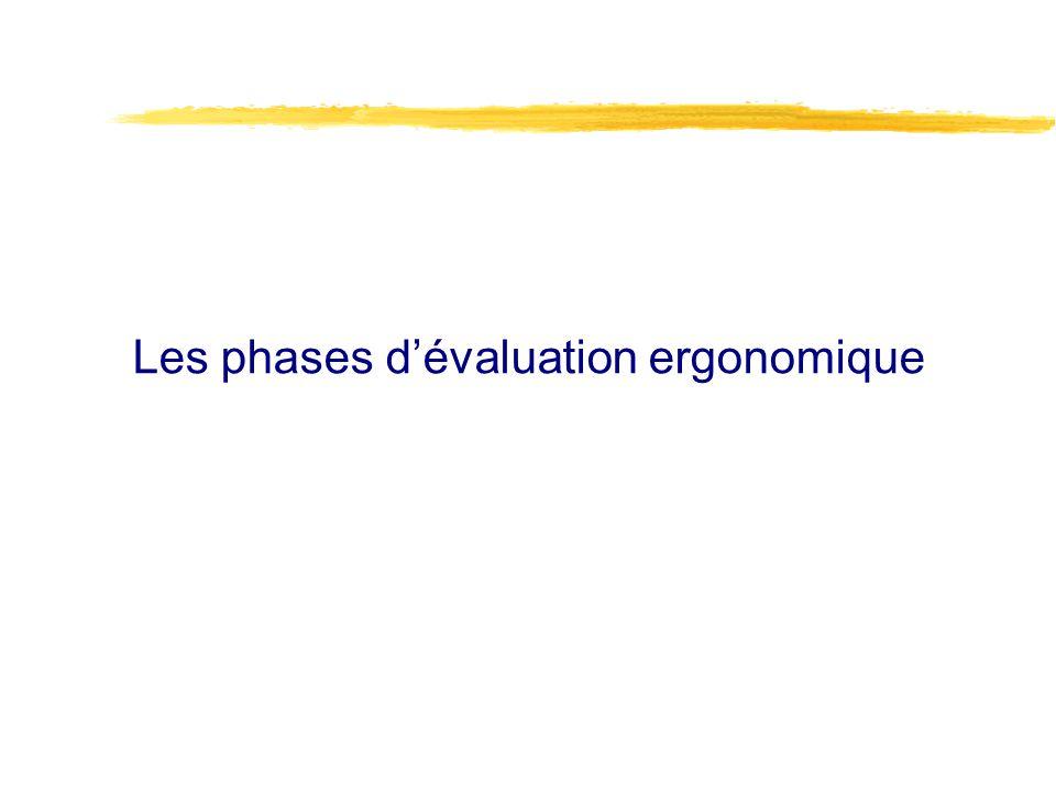 Les phases dévaluation ergonomique