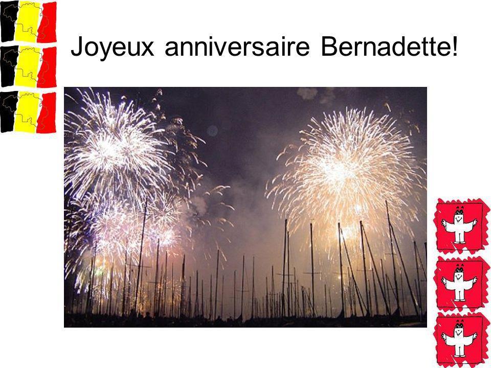 Joyeux anniversaire Bernadette!