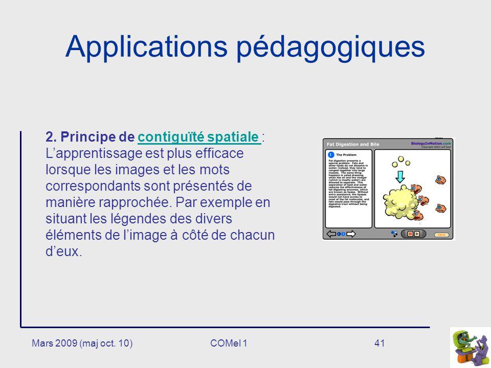 Mars 2009 (maj oct.10)41 Applications pédagogiques 2.