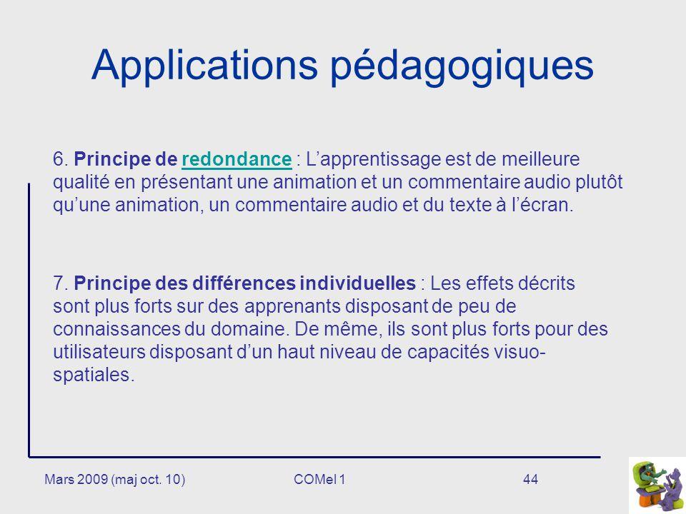 Mars 2009 (maj oct.10)44 Applications pédagogiques 6.