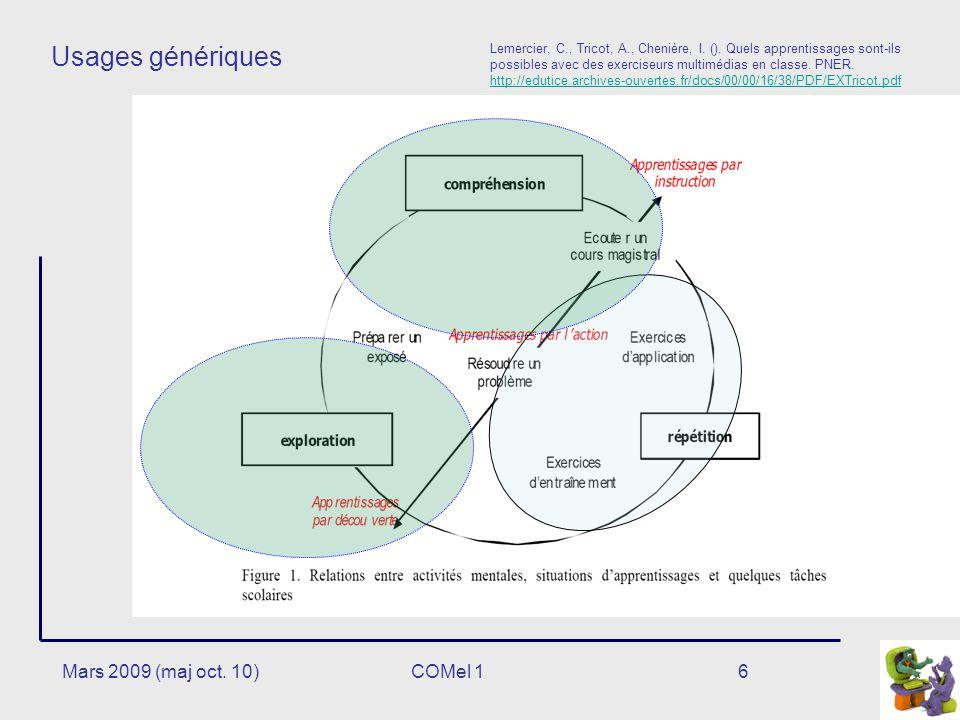6 Usages génériques Lemercier, C., Tricot, A., Chenière, I.