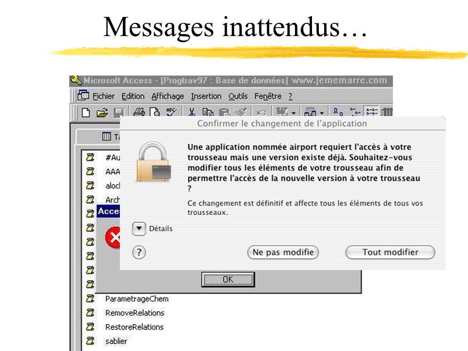 Messages inattendus…