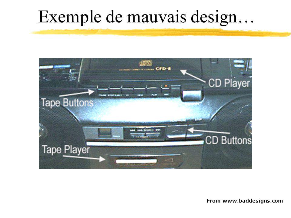 From www.baddesigns.com Exemple de mauvais design…