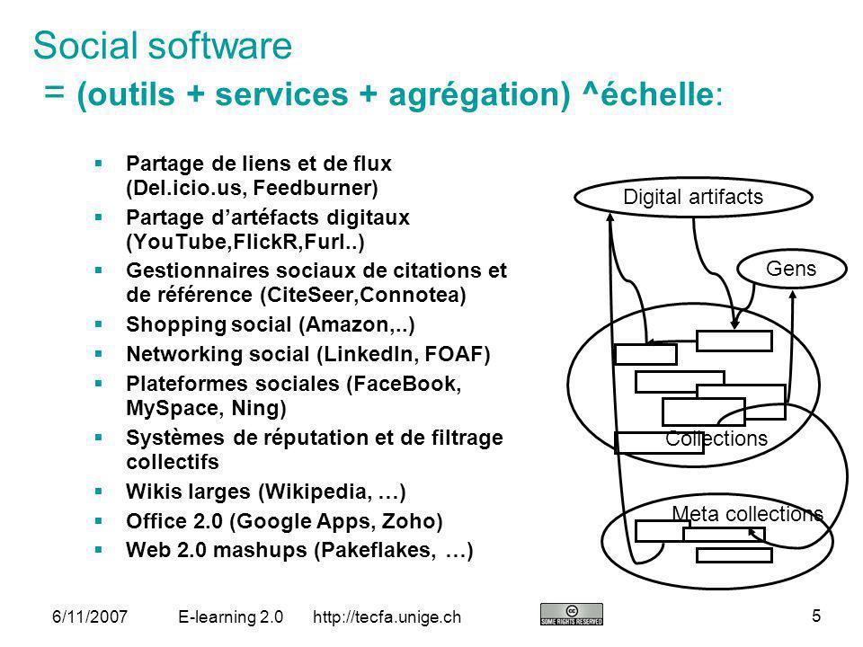 http://tecfa.unige.ch 26 6/11/2007E-learning 2.0 Chose qui manquent dans e-learning 1.0 .