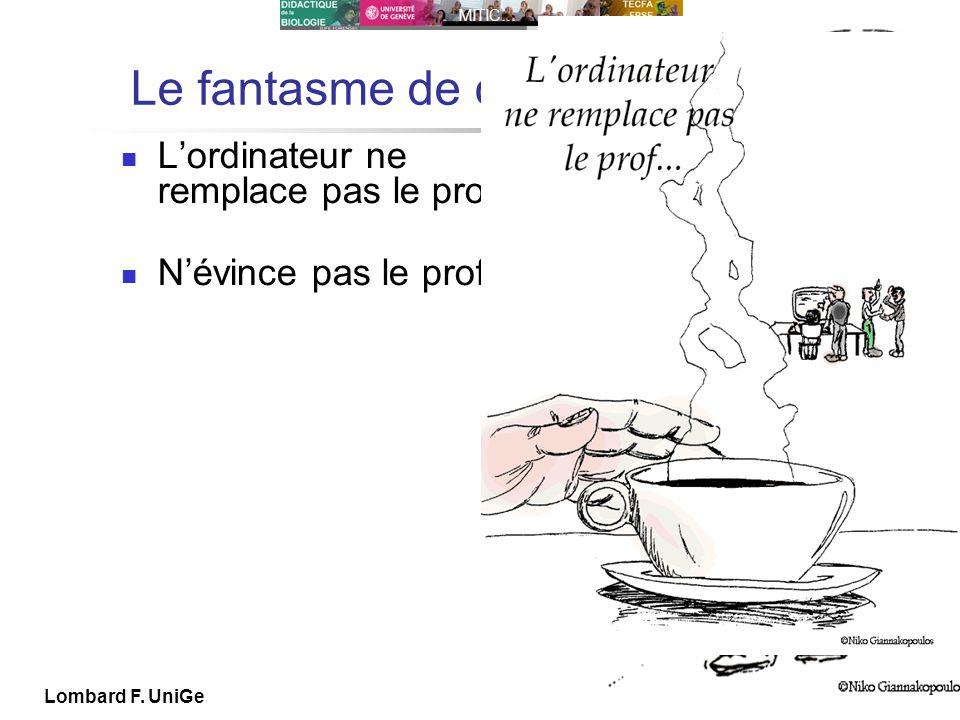 IUFE UniGe MITIC… IUFE, 29 IX 10 Lombard F. UniGe Le fantasme de certains Lordinateur ne remplace pas le prof Névince pas le prof