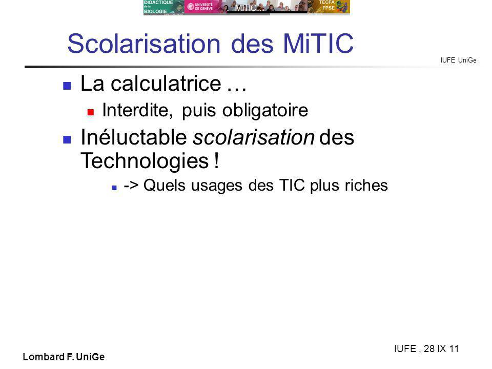 IUFE UniGe MITIC… IUFE, 28 IX 11 Lombard F.