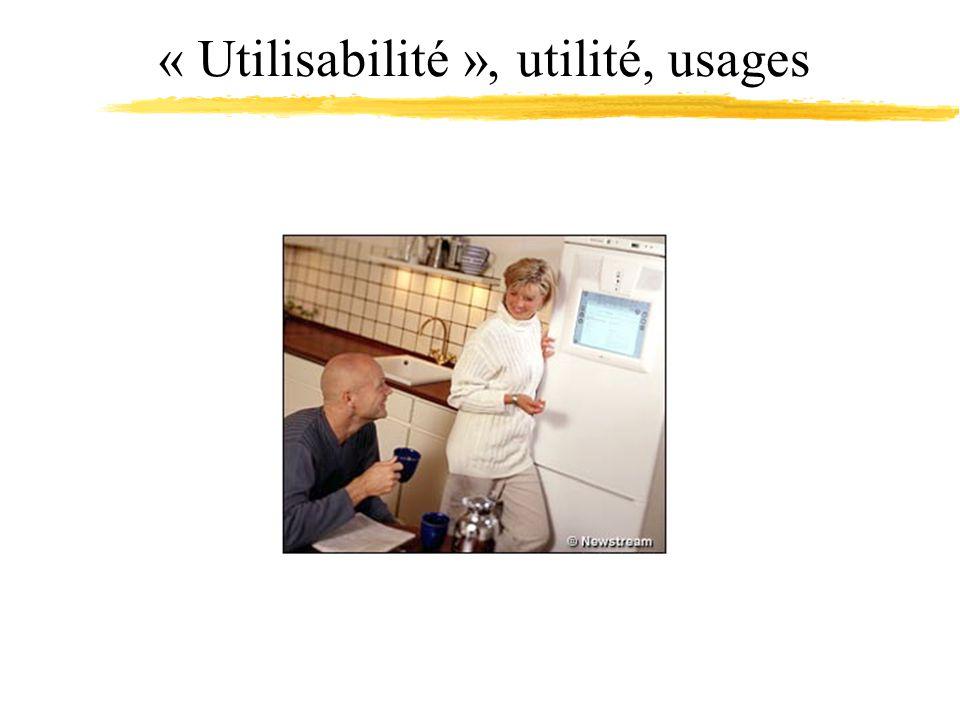 « Utilisabilité », utilité, usages