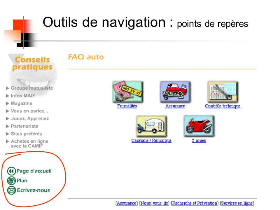 Outils de navigation : points de repères