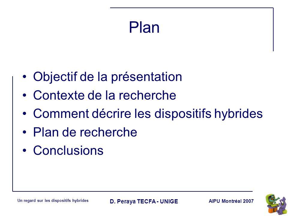 AIPU Montréal 2007 Un regard sur les dispositifs hybrides D.