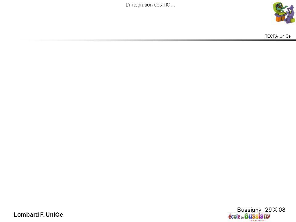 TECFA UniGe L intégration des TIC… Bussigny, 29 X 08 Lombard F. UniGe