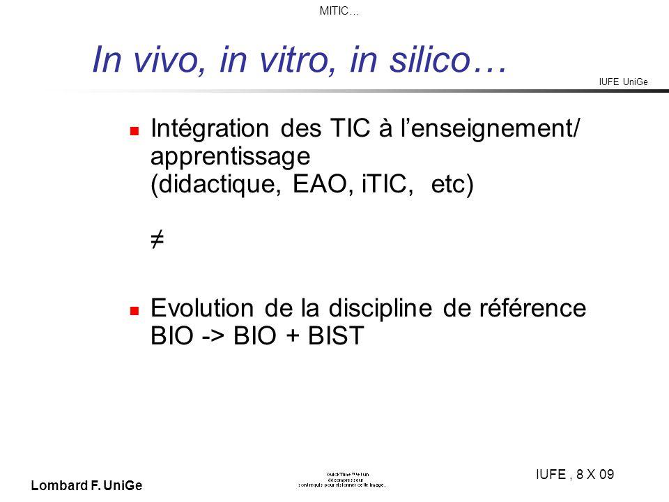 IUFE UniGe MITIC… IUFE, 8 X 09 Lombard F.