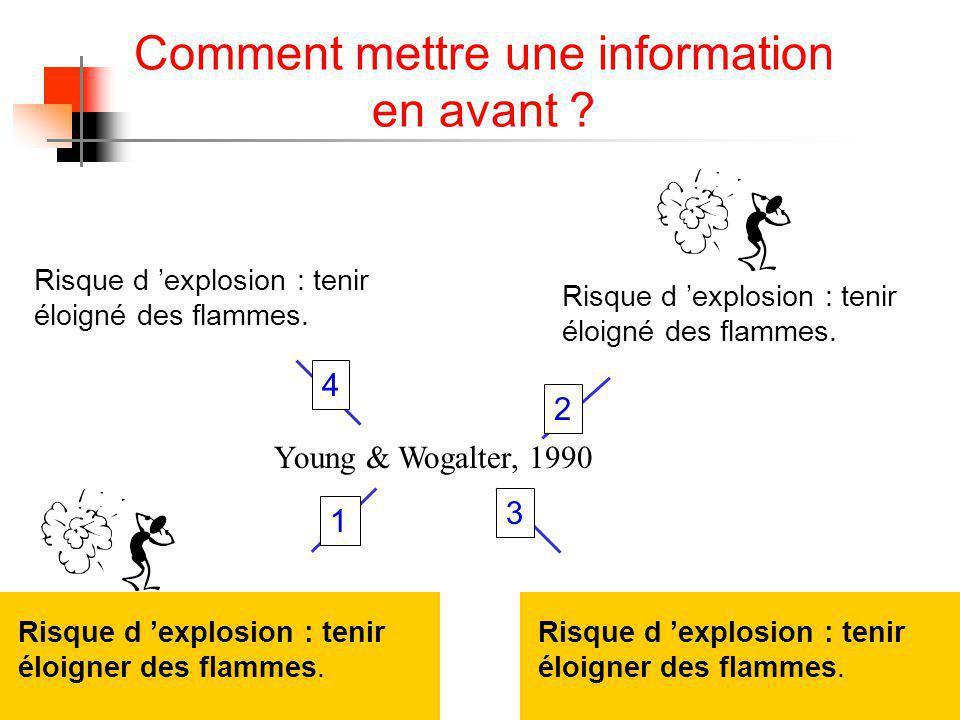 Comment mettre une information en avant .