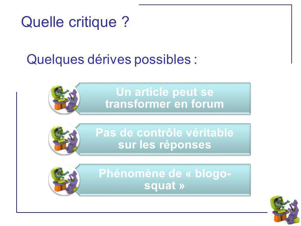 Utilisation éducative Pour prendre des notes (bloc notes) De gestion (de classe ou de projet) Collaboratif De « news » Un blog peut être un outil :