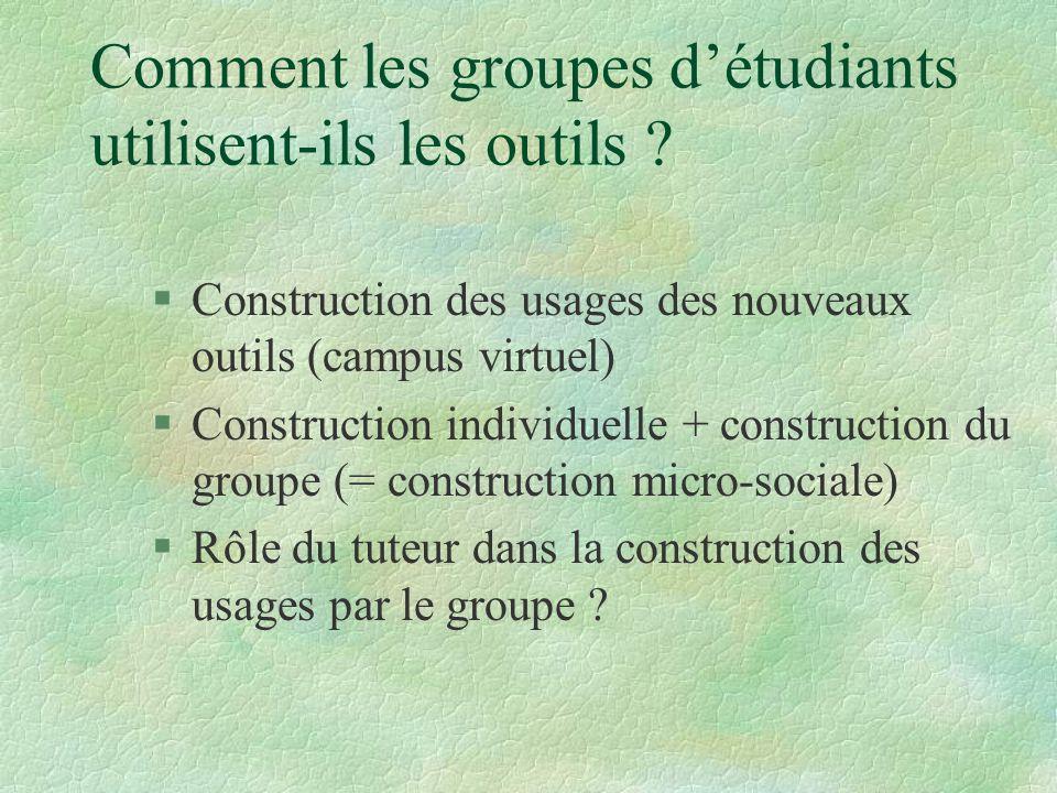 Comment les groupes détudiants utilisent-ils les outils .