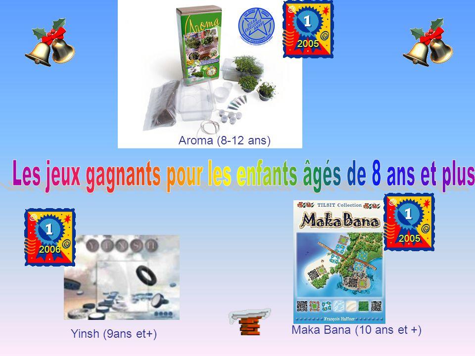 Aroma (8-12 ans) 2005 Yinsh (9ans et+) 2006 Maka Bana (10 ans et +) 2005