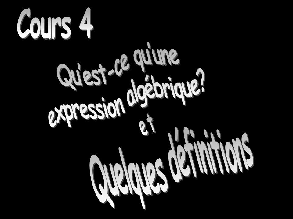 Quest-ce quune expression algébrique.