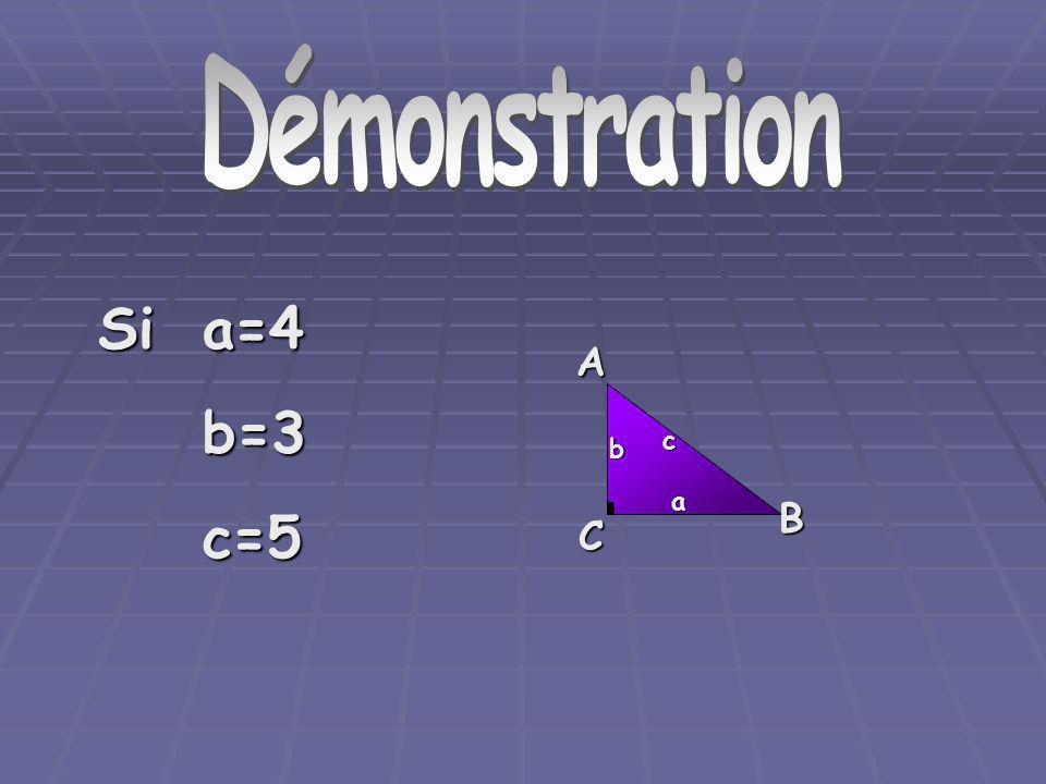 DémonstrationAC B a b c Sia=4 b=3c=5