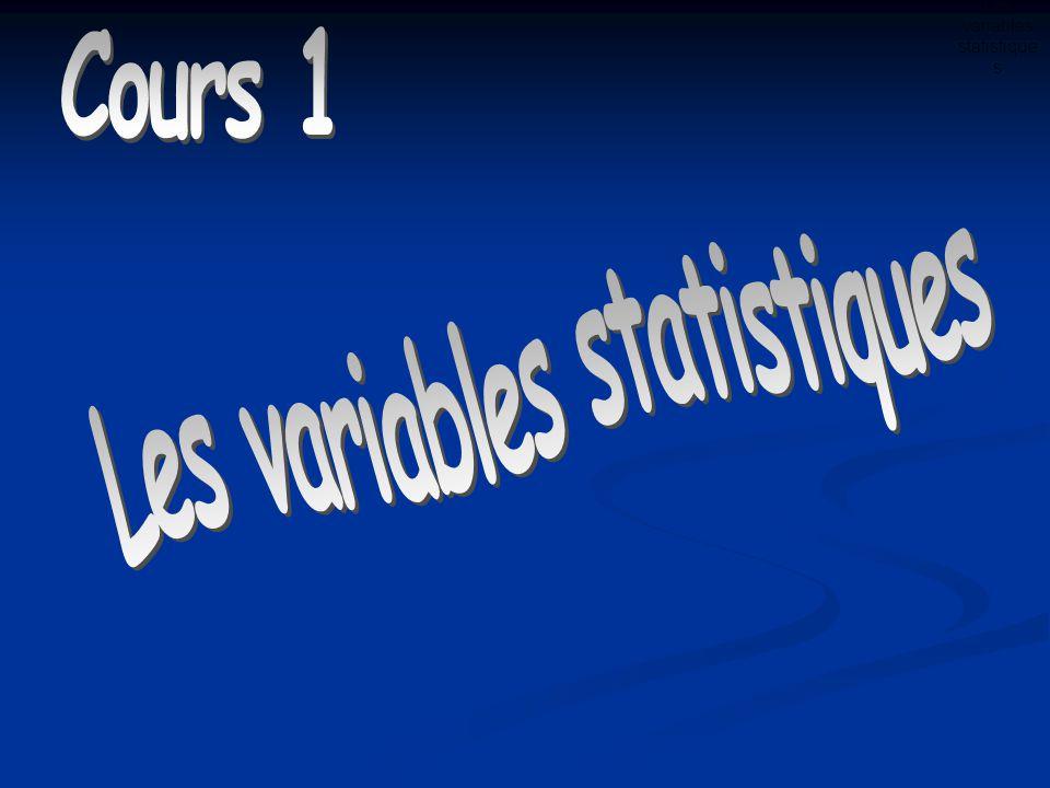 Les variables statistique s