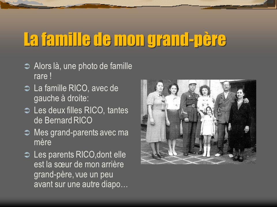 Le père de mon grand-père Mon arrière grand-père et ma mère à 5-6 ans à Blida en Algérie. Donc aux alentours de 1939-1940.